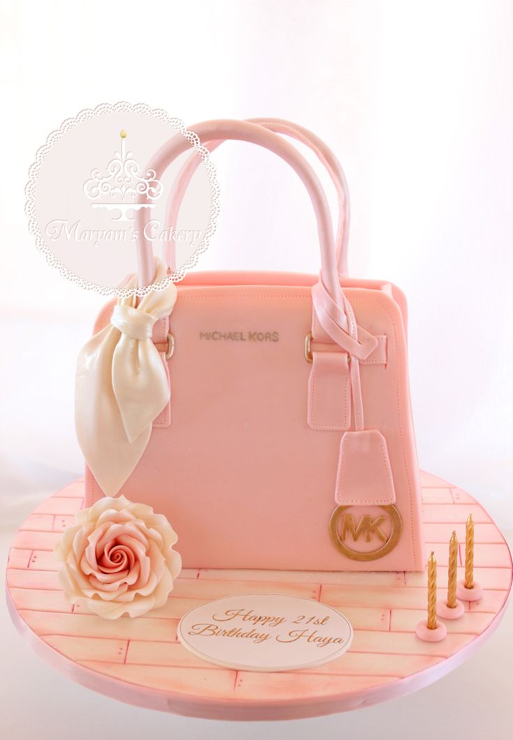 Michael Kors 3D shaped cake www.facebook.com/... #michaelkorscake