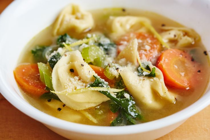Recipe: Lemony Tortellini Spinach Soup — Quick and Easy Weeknight Dinners