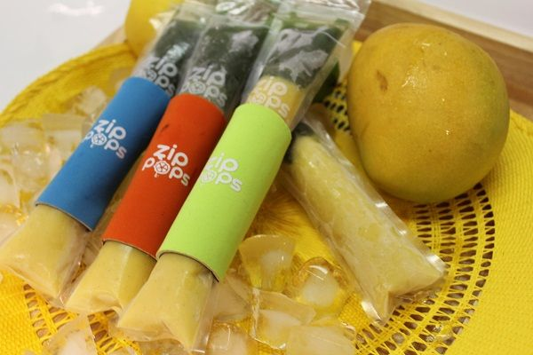Mango and Kiwi Icy Pops