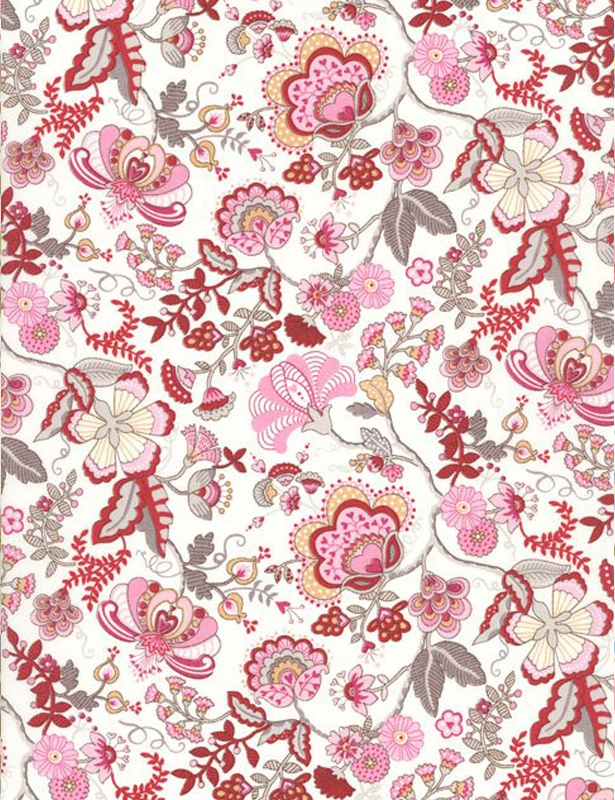 liberty fabric in red                                                                                                                                                                                 Más