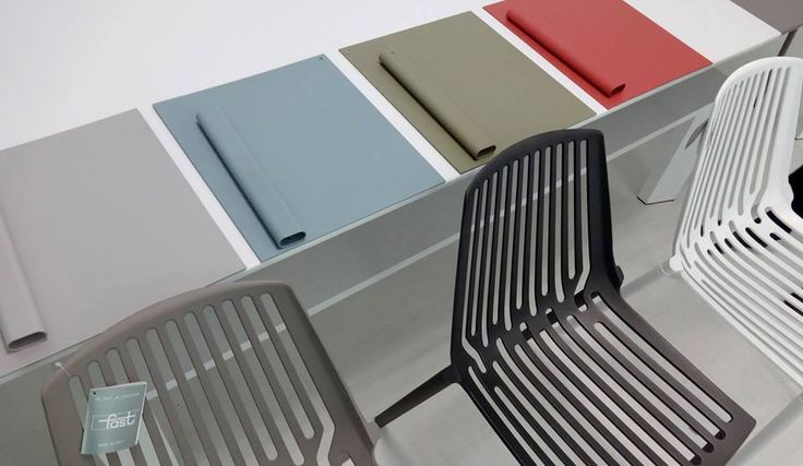 RION collection. Chairs with our new colours / Sedie con i nostri nuovi colori. FAST IN_OUT ALUMINIUM.