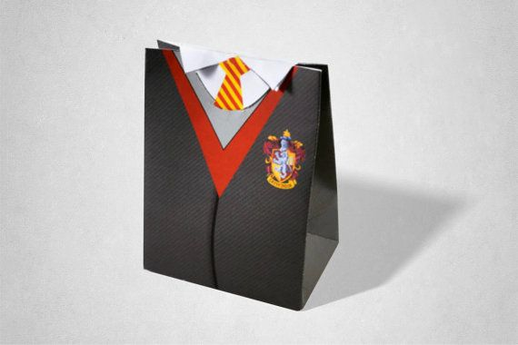 Harry Potter Hogwarts Inspired Wizards Uniform,  Party Gift Bags / Favor Box / Loot Bag (Download Option)