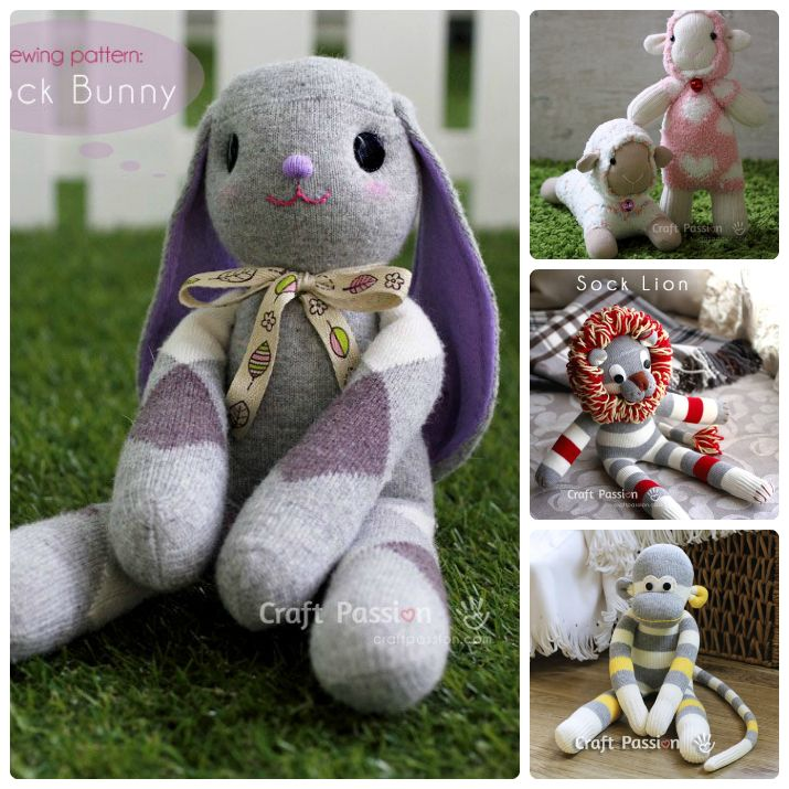 FREE Sock Animals Patterns from Craft Passion | Wee Folk Art