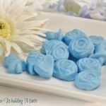 Make Your Own Wedding or Graduation Mints---Use bowl of granulated sugar to dip mold in before pressing candy into mold.