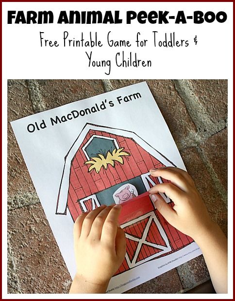 Peek-A-Boo Farm Animals Activity (Free Printable) from Buggy and Buddy