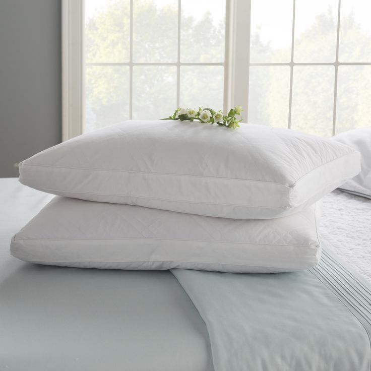 Double Quilted Goose Feather Standard Pillow