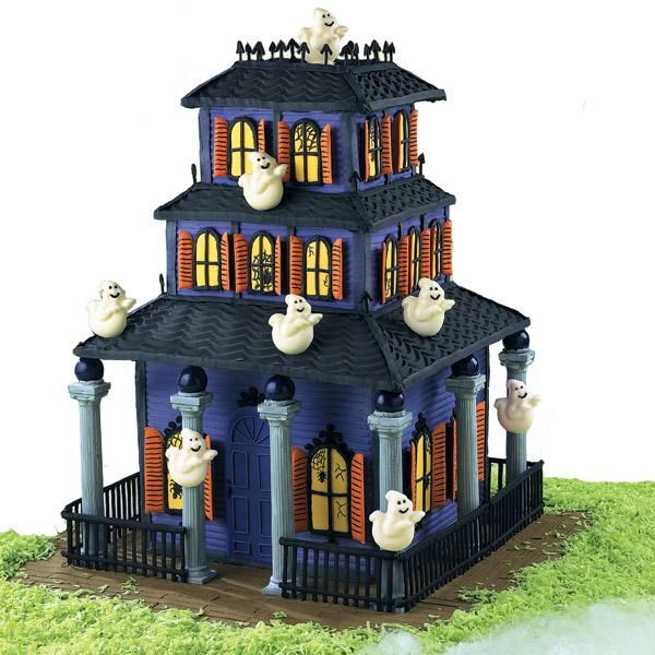 good housecreeping cake this old haunt is custom built with color flow windows and - Halloween Decorated Cakes