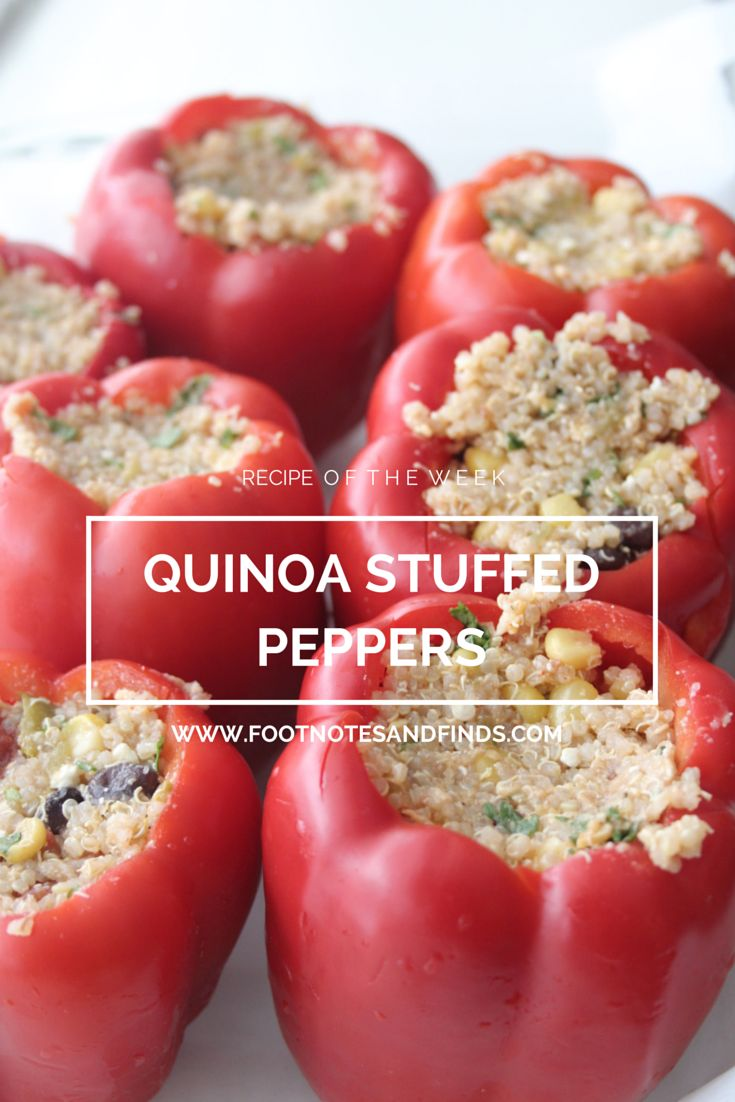 Tex-Mex Quinoa Stuffed Peppers | Footnotes and Finds