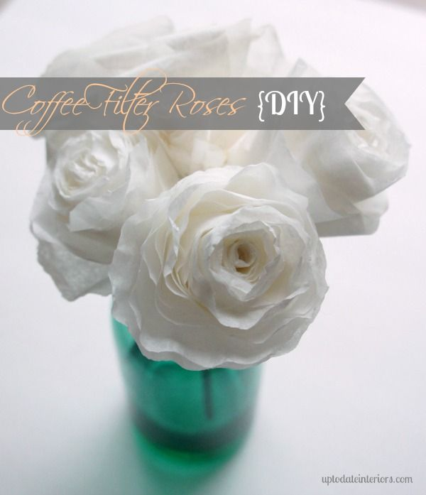 Easy DIY Coffee Filter Roses - try three different methods.  Great gift idea for Valentine's day!