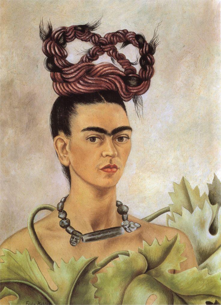 frida kahlo artwork self portrait with braid frida kahlo. Black Bedroom Furniture Sets. Home Design Ideas