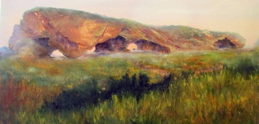 The Arches, Gros Morne 24 x 48 oil 2012 - Janet Simmons Sweet