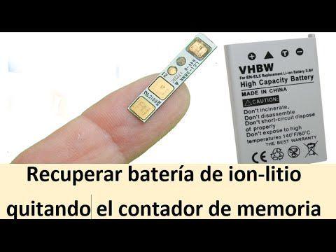 Recuperar batería de ion-litio quitando el contador de memoria - YouTube