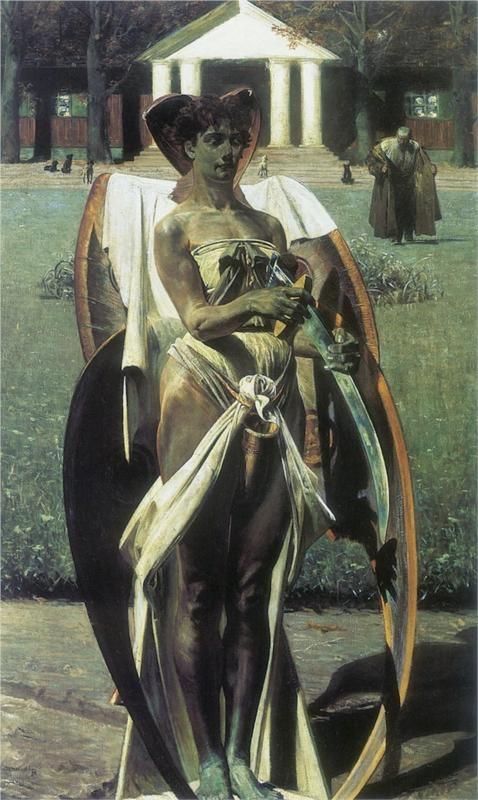 Thanatos, Jacek Malczewski.el dios de la muerte era un joven ----ZANATOS y aqui aparece una mujer....se equivoco el pintor  J.M