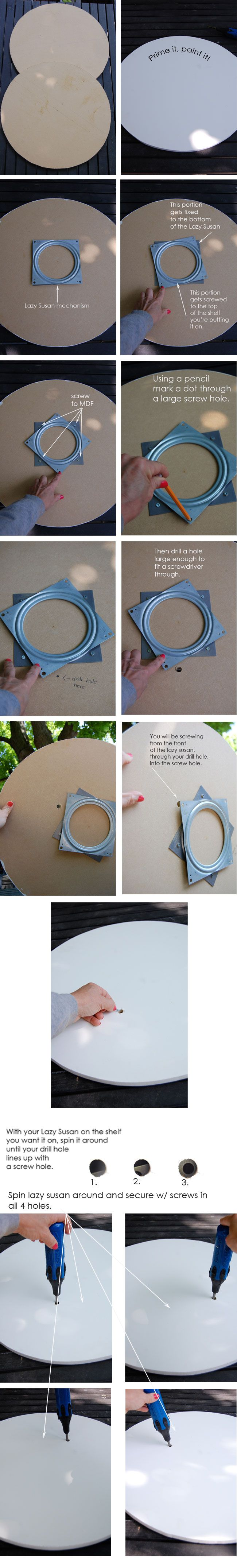 FINALLY instructions I can follow to finish up my Lazy Susan