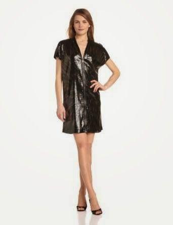 sequin shift dress: Black Sequin Shift Dress