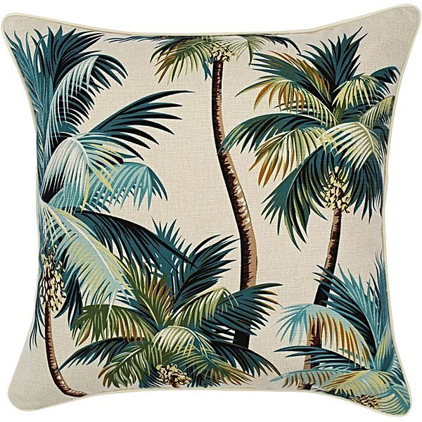 Haven Palm Trees Outdoor Cushion, Natural