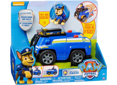PAW PATROL omvandlingsbart fordon med hundvalp polisbil