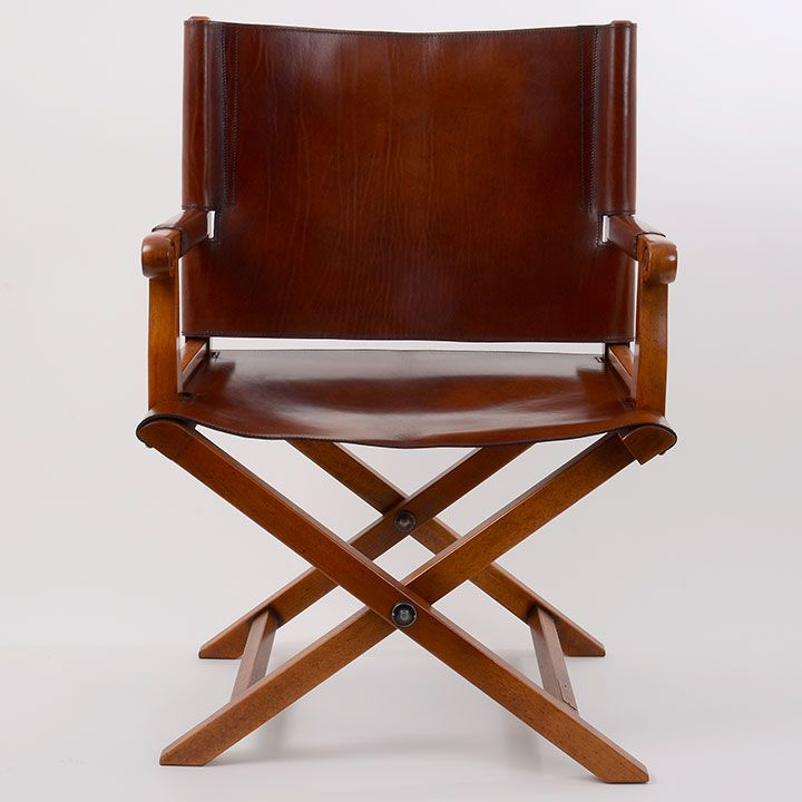 Campaign Chair, Folding Leather Campaign Chair