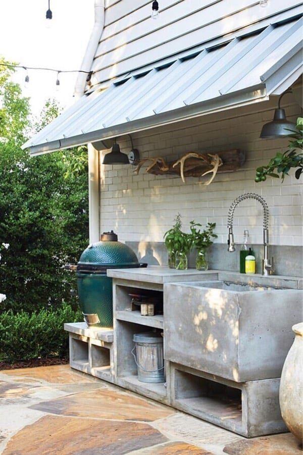 Best Outdoor Kitchen Ideas For Your Backyard In 2020 Crazy Laura Concrete Outdoor Kitchen Diy Outdoor Kitchen Outdoor Kitchen Patio