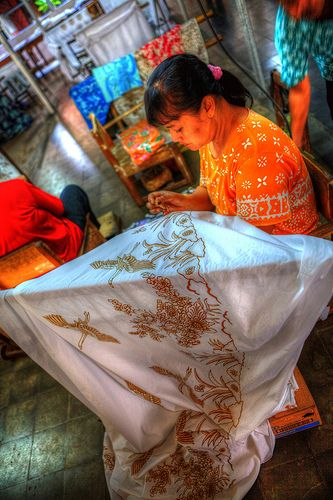 Indonesia - Java - Yogyakarta - Batik Plentong (Wax Resist Dyeing factory)