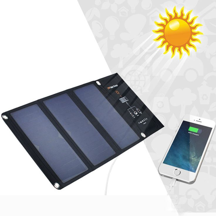 5V 21W Sunpower Solar charger Foldable Solar Charger Outdoor Portable Solar Panel Charger for iphone Mobile Phone Digital Camera //Price: $77.56      #FirstDayOfSummer