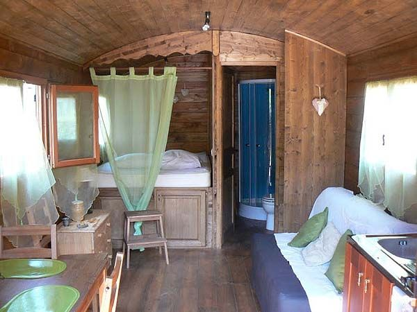 Small Houses: Tiny House, Living Spaces, Hallways, Nike Dunks, Raised Beds, Gypsy Caravan, Cabin Interiors, Small House, Rai Beds