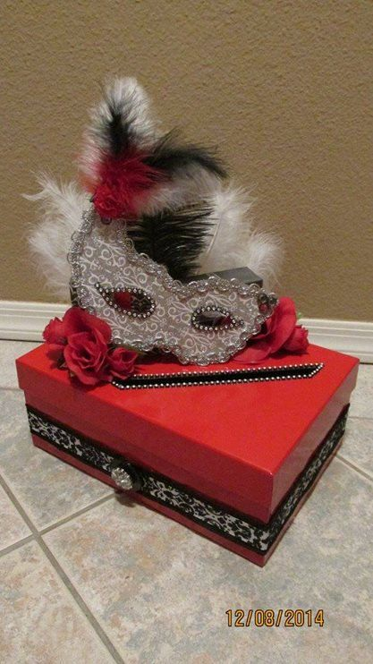 Masquerade Themed Wedding Anniversary by lisaspaperparrodise