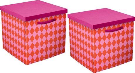 Flexa Förvaringsbox Prinsessa 2-pack | Barnrummet Förvaring | Jollyroom