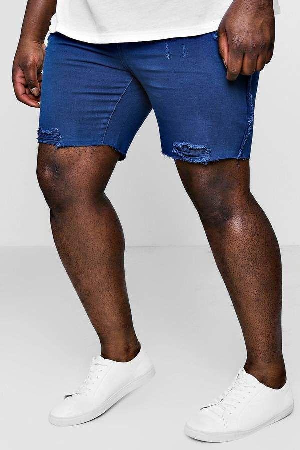 126da633f3 Big And Tall Slim Distressed Denim Shorts | Products | Distressed ...