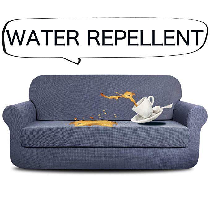 Aujoy Stretch 2 Piece Sofa Covers Water Repellent Dog Cat Pet