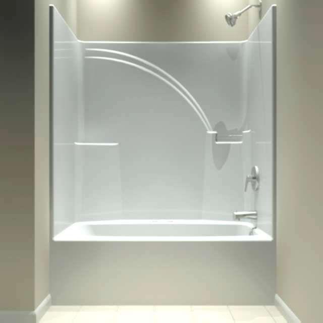 Bathtub Showers One Piece Tub Shower Whirlpool Unit Bathroom