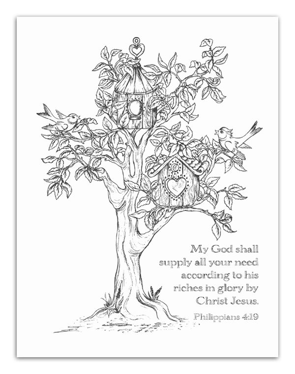 christian coloring pages with verses - photo #50