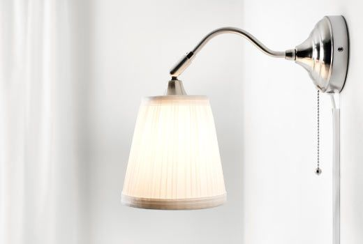 IKEA Wall lights & lamps - Arstid $14.99 Possibly positioned over KJ's closet, one on each side?  Run cord around wood closet surround to hide it and connect to wall outlet.