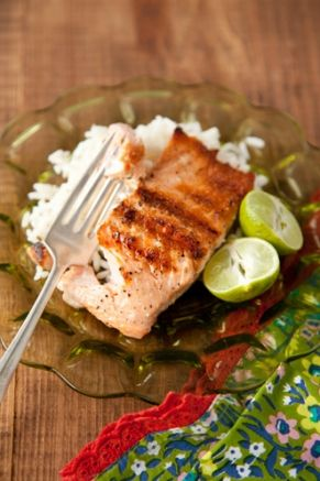 Grilled Salmon with Key Lime Butter #pauladeen