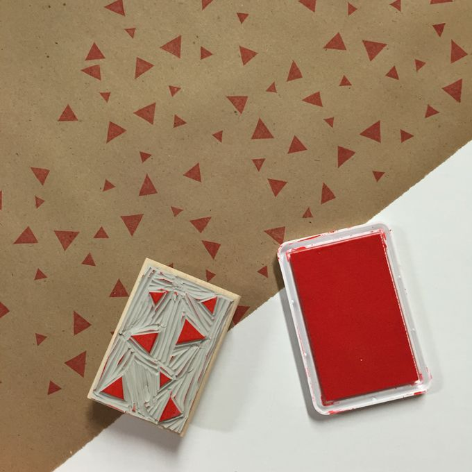 Make your own wrapping paper with stamps and kraft paper using this tutorial.