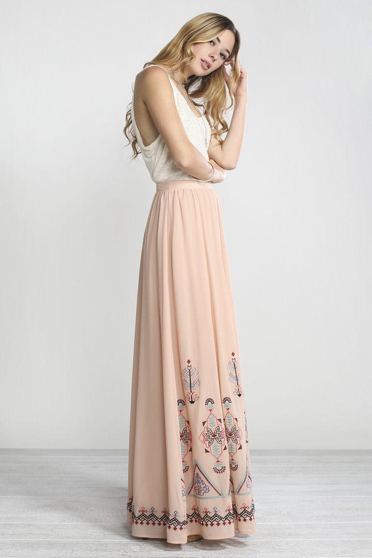Best 20+ Maxi skirts ideas on Pinterest | Summer maxi skirts, Long ...