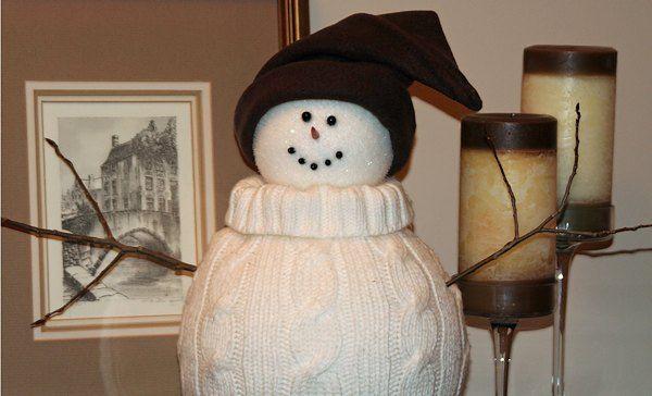 Un muñeco de nieve en casa - Costura y artesanías