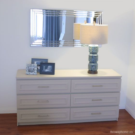 The ikea malm dresser was transformed with 3 4 panel for Malm kommode weiay