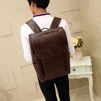 Винтажные мужские кожаный рюкзак сумка Messenger рюкзак книги Сумки для ноутбуков