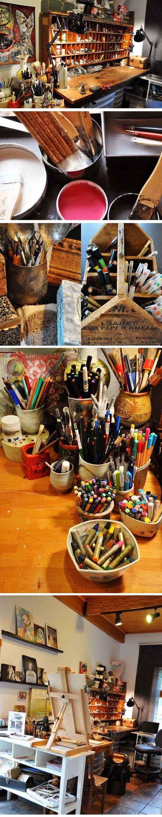 Caos organizzato e creativo!! Amo!!