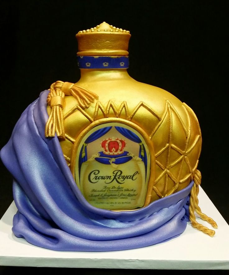 MoniCakes: Crown Royal bottle cake Monica Vinson is an AMAZING cake decorator........love love her work!!!