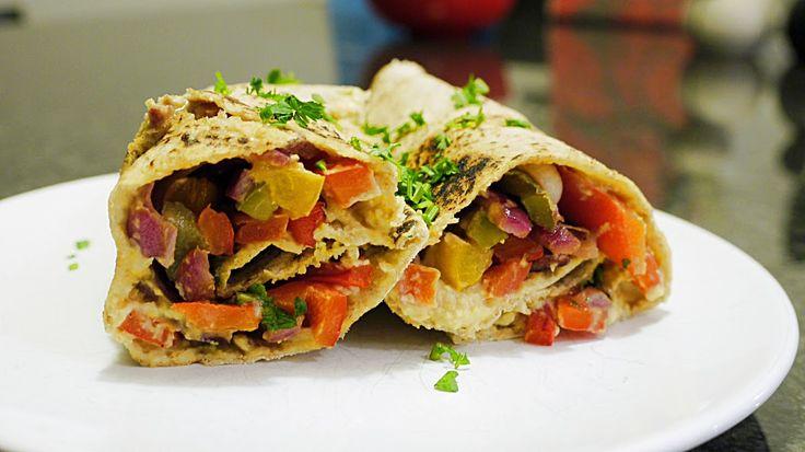 Polskie South Beach: Wrap z grillowanymi warzywami i hummusem
