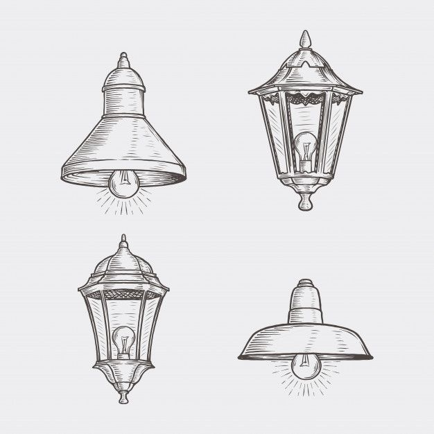 Hand Drawn Vintage Street Lamp How To Draw Hands Street Lamp Architecture Concept Drawings