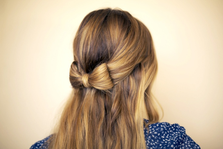 How To: Hair BowHair Ideas, Hairbows, Bows Ties, Diy Hair, Bows Hairstyles, Cute Hair, Ties Hair, Hair Style, Hair Bows