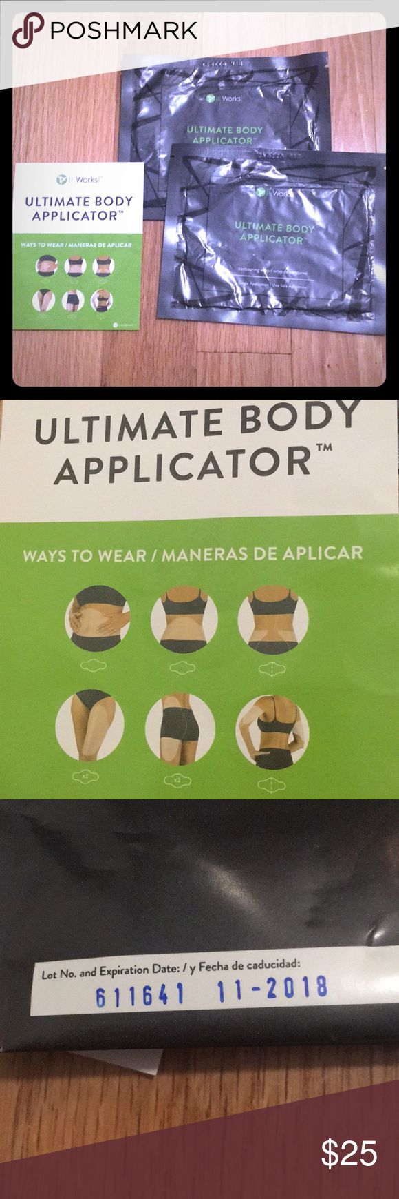 🌿It Works Skinny Wrap Ultimate Body Applicator🌿 It Works Ultimate Body Applicator Skinny Wrap 2 Pack. 1 for $25 or 2 for $50. ✅Offers Welcome! 📦✨📭 Same or Next Day Shipping Mon-Fri! Makeup