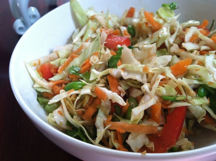 Asian Slaw with Ginger-Peanut Dressing | Favorite Recipes | Pinterest