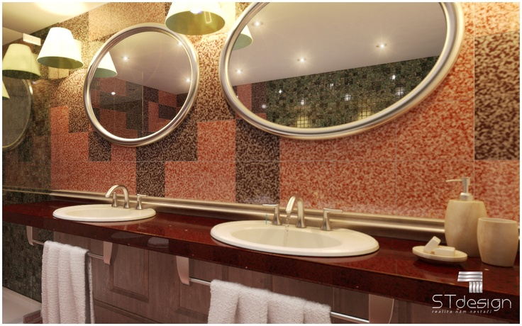 If necessary, we offer design services dodekorování bathroom or  design and manufacture of presentation showrooms for bathroom furniture, sanitary, batteries or wall.  @stdesign3d : studio www.st3d.cz