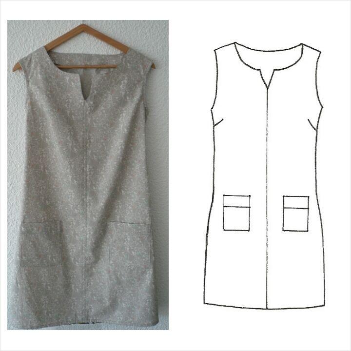"""Patron en taille réelleUne robe graphique, à la coupe élégante, qui peut à la fois se coudre dans un tissu coloré, imprimé, qu'en uni ou noir tout simplement pour son côté élégant.Patron décliné pour les tailles S/M/L/XL (se référer au tableau des tailles dans l'onglet """"guide des tailles"""") La robe a une coupe ajustée au niveau de la poitrine, si vous êtes entre deux tailles privilégiez la taille au dessus.Fournitures   Pour les tailles S et ..."""