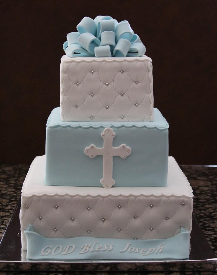 Baptism cake- I like the two tone layers