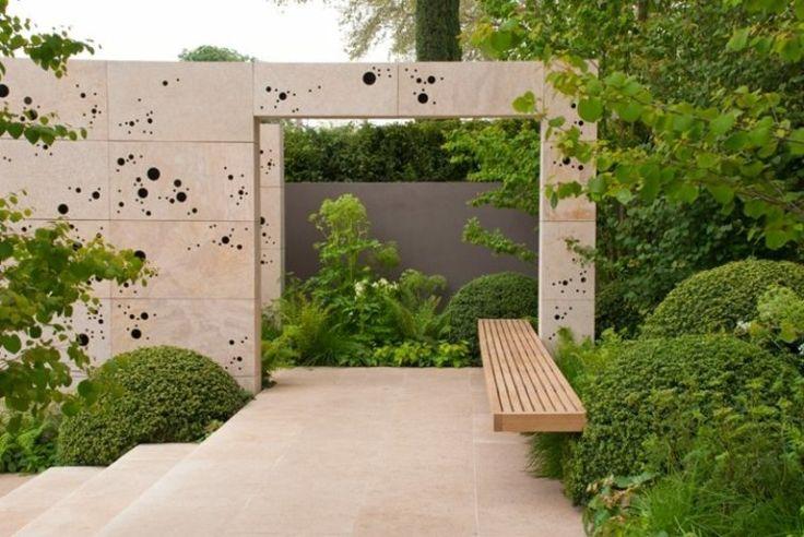 17 meilleures id es propos de banc de pierre sur for Banc de jardin en bois exotique